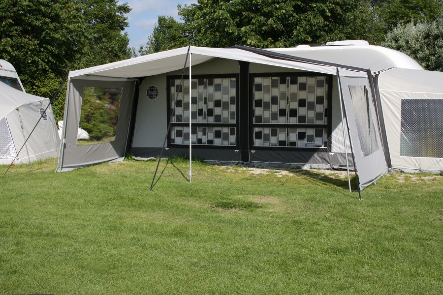 Caravan Awning Sun Canopy De Luxe For The With Sidewalls