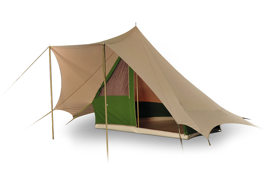 baumwollzelt bedouin 240 piramidzelt sand moosgr n. Black Bedroom Furniture Sets. Home Design Ideas