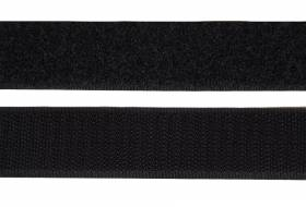 Velcro tape 20 mm, black adhesive