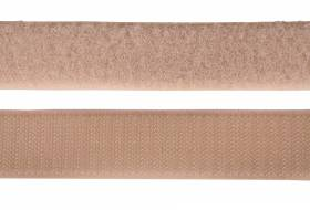 Velcro tape 25 mm, beige
