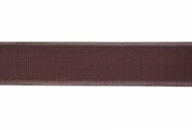 Klettband 16 mm braun, harte Seite, Haken