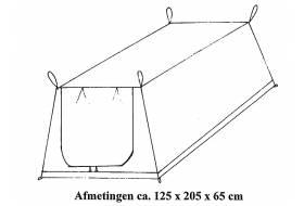 Ondertent vouwwagen 125 x 205 x 65 cm