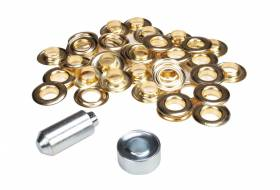 Set ESVO eyelets Ø 12 mm brass, 25 pieces