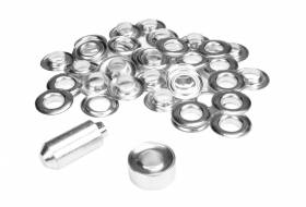 Set ESVO eyelets Ø 12 mm nickel plated, 25 pieces