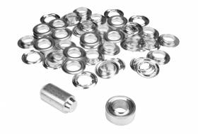 Set ESVO eyelets Ø 16 mm nickel plated, 25 pieces