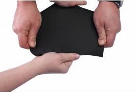 Waterdichte stretch stof zwart. Polyester. 150cm.