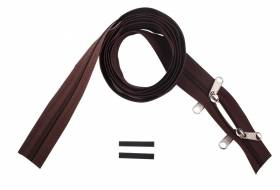 YKK zip-fastener 8 mm closed end two-way O-form brown