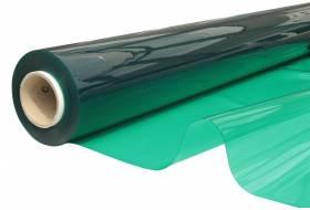Doorzichtig zeil, vlamvertragend plastic folie 140 cm, 0,60 mm, groen