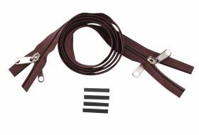 YKK zip-fastener 10 mm closed end two-way X-form brown