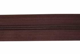 YKK rits per meter 8 mm niet deelbaar, bruin