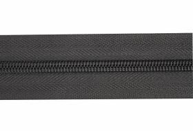 YKK rits per meter 8 mm niet deelbaar, grijs