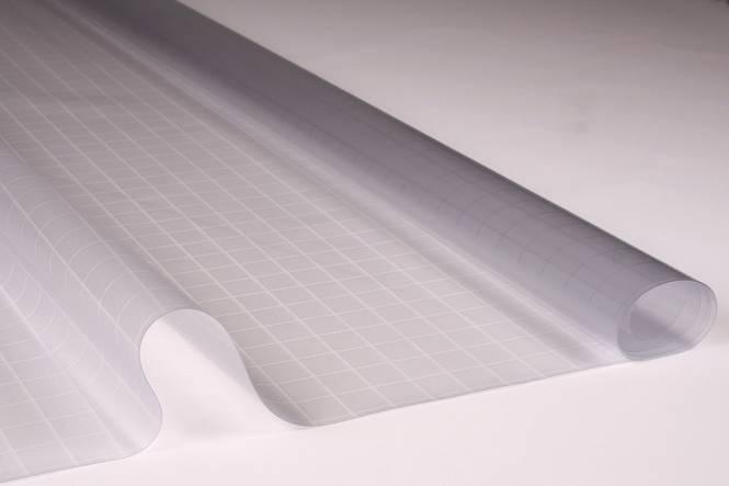 Transparent plastic 0.30, 140 cm