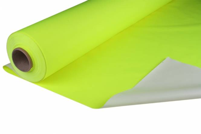 Nylon water repellent fabric 150 cm, HVIS neon yellow 150 gr/m² flame retardant and breathable