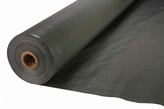 Afdekzeil 220 gram. U.V.-bestendig grijs 200 cm