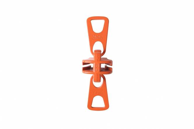 YKK VISLON schuiver bloktand 8 mm met 2 greepplaten, orange