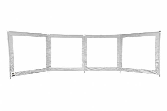Windscherm ESVO 4 panelen met ramen en bovenliggers