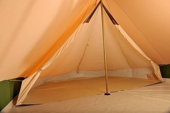 Baumwollzelt Bedouin 340. Pyramidenzelt mit festem Boden DEMO ZELT