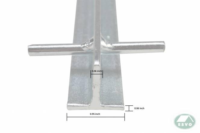 T-haring, stormharing 30 cm x 3 mm, staal, blank verzinkt