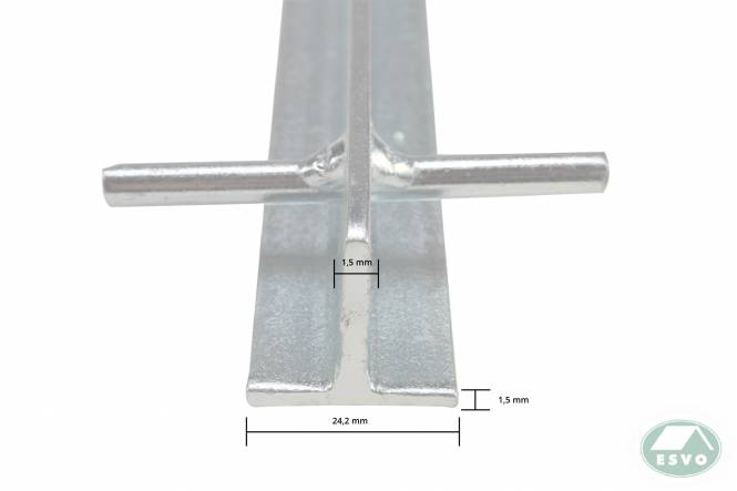 T-Hering 30 cm x 3 mm, blau-passiviert