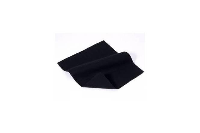 Bühnenmolton oder Dekomolton. Schwer entflammbar schwarz 300 Gr/M²,  300 cm