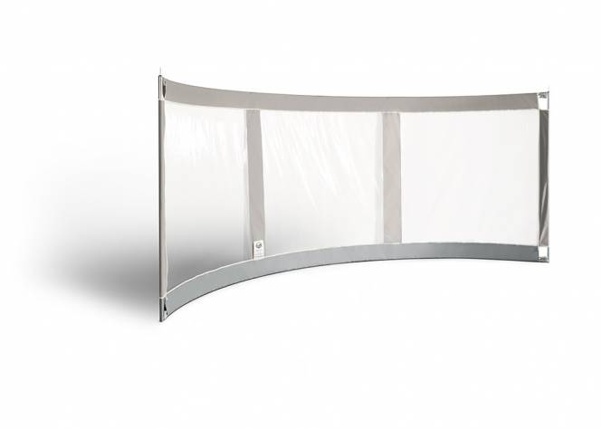 ESVO curved windbreak Mistral 395 with 3 windows